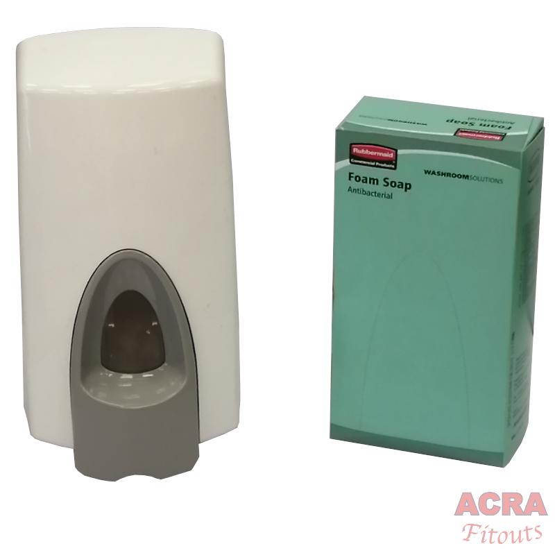 Foam soap dispenser with refill
