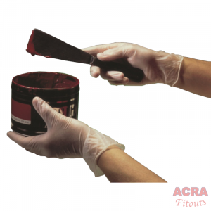 ACRA Gloves clear powder free large
