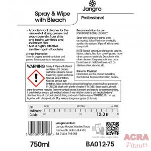 Spray & Wipe with bleach 75ml back