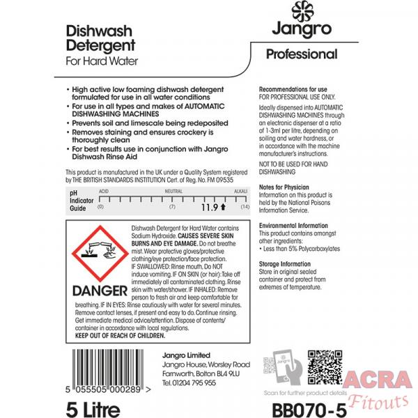 ACRA Dishwash detergent 5L for hard water back
