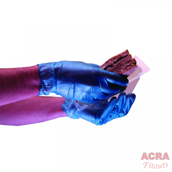 ACRA Blue Latex Gloves