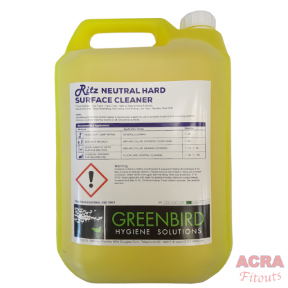 Ritz neutral hard surface cleaner