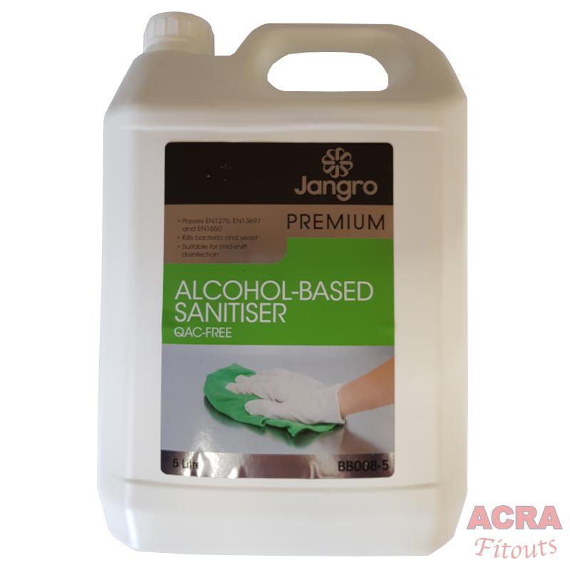 Jangro Premium alcohol based sanitiser 5ltr front