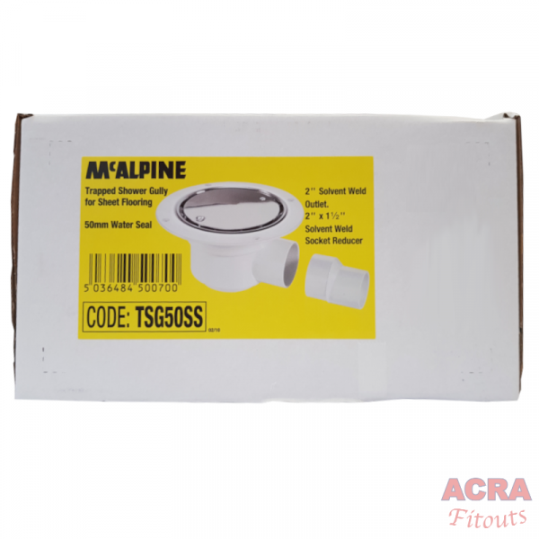 Trapped Shower Gully sheet SS (McAlpine)-ACRA