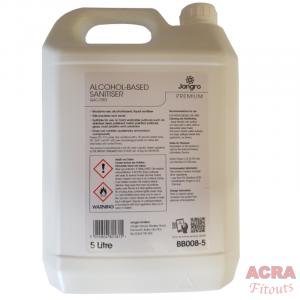 Jangro Premium alcohol based sanitiser 5ltr ACRA