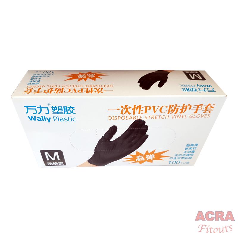 Black Disposable Gloves – 4
