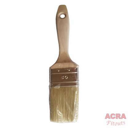 Dolphin paint brush 50mm with wooden handle-ACRA