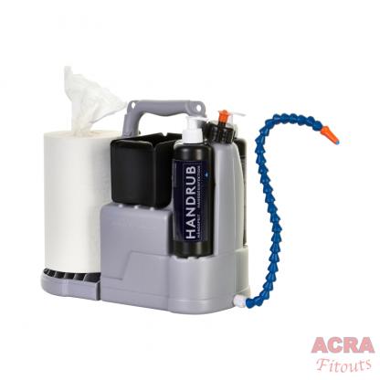 HWash Shoulder Sink mobile hand washing- internals - ACRA
