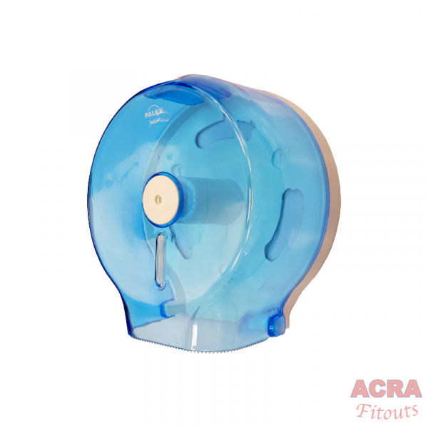 Palex Jumbo Toilet Paper Dispenser - Transparent Blue-Side-ACRA