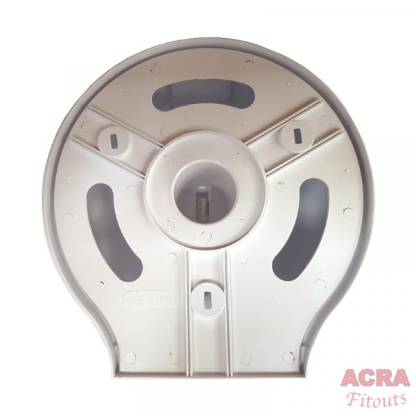 Palex Jumbo Toilet Paper Dispenser - White-Back-ACRA