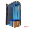 Palex Mini Soap Dispenser 250cc - Blue and Chrome-ACRA