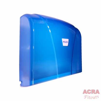 Palex Z-Fold Paper Towel Dispenser - Transparent Blue-Side - ACRA