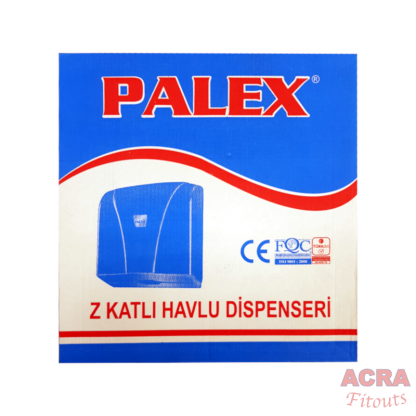 Palex Z-Fold Paper Towel Dispenser - Transparent Blue-Box ACRA