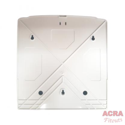Palex Z-Fold Paper Towel Dispenser - White-back-ACRA
