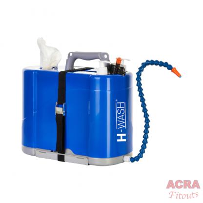 HWash Shoulder Sink mobile hand washing- Front ACRA