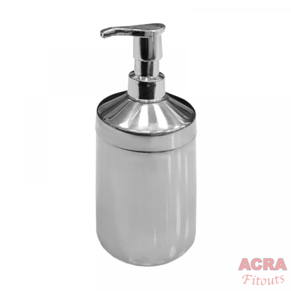 Palex Cylinder Liquid Soap Dispenser - Chrome - ACRA