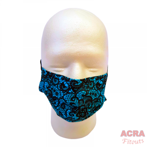 Disposable Masks - Lace pattern - Blue-ACRA
