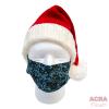 Disposable Masks - Lace pattern - Blue-santa-ACRA