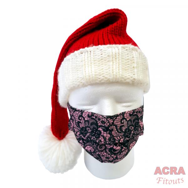 Disposable Masks - Lace pattern-Pink-santa-ACRA