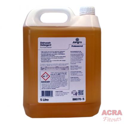 Jangro Professional Dishwash Deterget for Hard Water (BB070-5)-back - ACRA