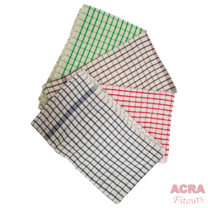 Tea Towels - Blue brown red green - ACRA