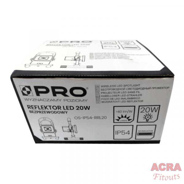 Wireless LED Spotlight 20W - Box ACRA