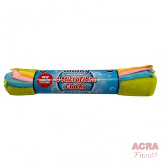 Pack 4 Minky MicroFibre Cloths - ACRA