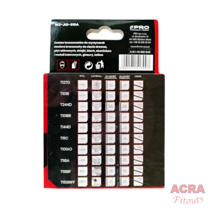 Pro Jigsaw Blades - Pack of 10 - WZ-JIG-S10A- back - ACRA