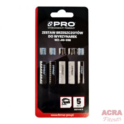 Pro Jigsaw Blades - Pack of 5 - WZ-JIG-S5B- front - ACRA